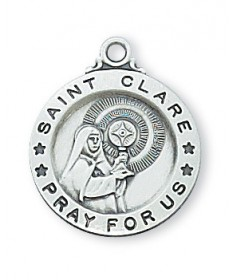 Saint Clare Medal - Sterling Silver