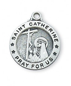 Saint Catherine Medal - Sterling Silver