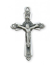 "Sterling Silver Crucifix on 18"" Chain"