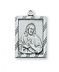 "Sterling Silver Scapular Medal on 18"" Chain"