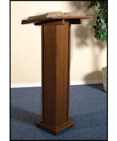 Silk-Screened Lectern with Walnut Stain