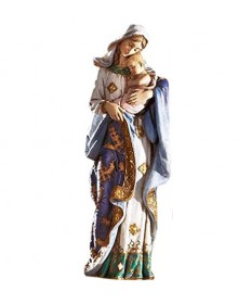 "Adoring Madonna and Child 7"" Statue"