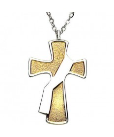 Deacon's Cross 2-toned Pendant