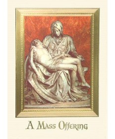 Mass Cards for Deceased - Pieta