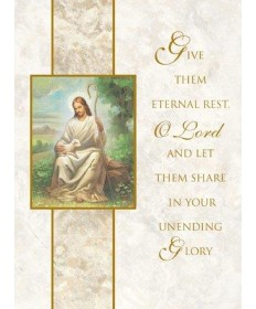 Mass Cards for Deceased - Eternal Rest