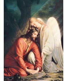 Mass Cards for Deceased - Jesus with the Angel