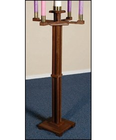 Silk-Screened Advent Candleholder with Walnut Stain by Robert Smith