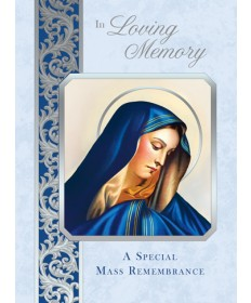 Mass Cards for Deceased - Sorrowful Mother