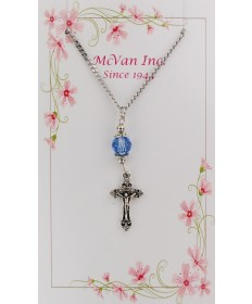 Pendant - Crucifix with Crystal Bead