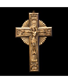 Pectoral Celtic Crucifix - Gold Plate