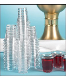 "Disposable Plastic Communion Cups 1 1/4"" H (1,000 per Box)"