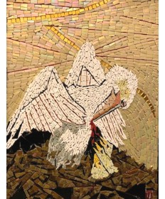 "Passion of Jesus (Pelican) Mosaic 18"" x 25"""
