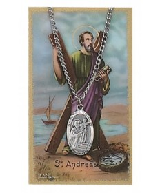 Saint Andrew Prayer Card and Pendant Set