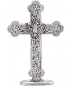 "5"" Confirmation Standing Cross with Dove"