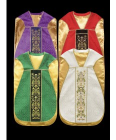 Chasuble by Alba with Embroidery on Velvet Panels