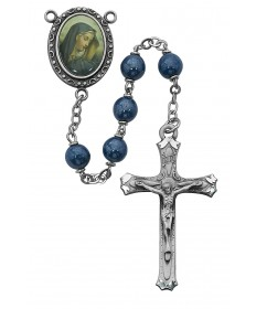 7 mm Blue Our Lady of Sorrows Rosary