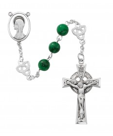 8mm Irish Jade Beads Rosary