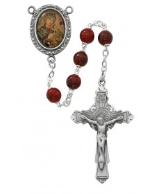 7mm Red Our Lady of Perpetual Help Rosary