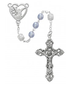 7mm Angel of Hope Lavender Pearl Rosary
