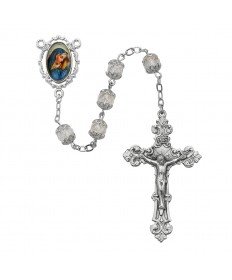 7 mm Crystal Glass Beads OL of Sorrow Rosary