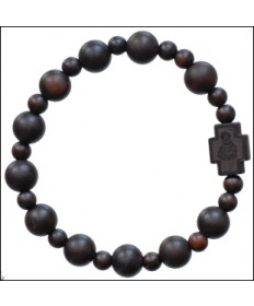 Jujube Wood 10 mm Rosary Bracelet