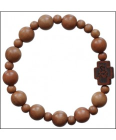 Jujube Wood 8 mm Rosary Bracelet