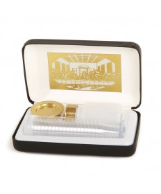 Portable Communion Set with Last Supper and Black Case (20 Cups)