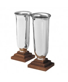 Altar Vases Silverplate and Wood