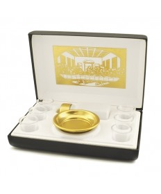Portable Communion Set with Last Supper (6 Cups)