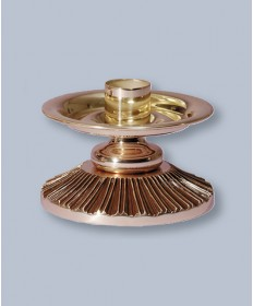 "Regal Altar Candlestick with 1.5"" Socket, 4""H"