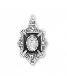 """Sterling Silver Miraculous Medal on 18"""" Chain"""