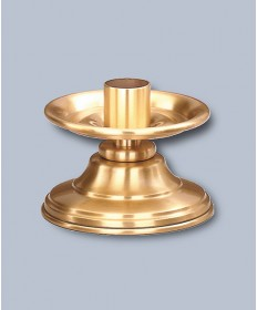 "Regal Altar Candlestick with 1.5"" Socket, 3-1/2""H"