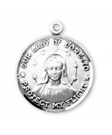 Our Lady of Loretto Pendant - Sterling Silver