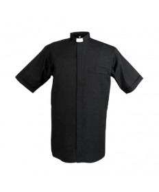 Clergy Shirt by Reliant Black - Tab Collar Short Sleeve