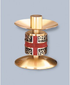 "Regal Altar Candlestick with 1.5"" Socket, 5""H"