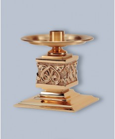 "Regal Altar Candlestick with 1.5"" Socket, 7""H"
