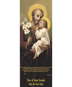 2021 Banner (Velvet Fabric) - Saint Joseph 8' Tall