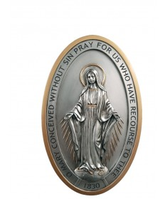 "Miraculous Medal Plaque 5"" x 8"""