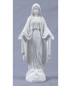 "Our Lady of Grace 10"" Statue from Veronese Collection - White Resin"