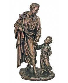 "Saint Joseph with Child 8.25"" Statue"
