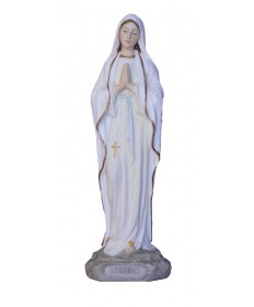 "Our Lady of Lourdes 8"" Statue Colored"