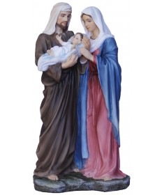 "Holy Family 8.5"" Statue Colored"