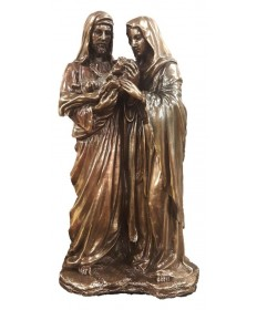 "Holy Family 8.5"" Statue Bronzed"