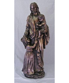"Christ with Children 35"" Statue"