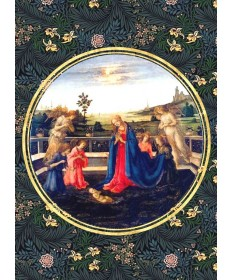 "Christmas Cards ""Adoration of the Child by Lippi"""
