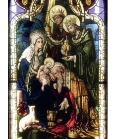 "Christmas Cards ""Wisemen Stained Glass"""