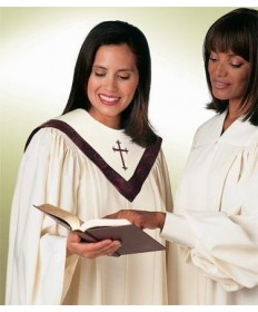 Tempo Traditional Choir Robe with Open Sleeves by Murphy Robes
