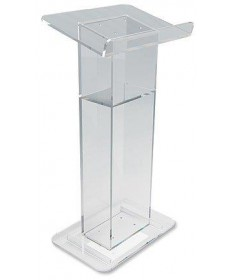 "Lectern - U-Shaped Acrilic with Shelf 46""H"