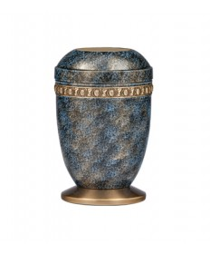 "Memorial Urn - Aluminum and Brass 10-1/2""H"