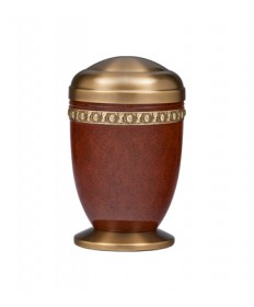 "Memorial Urn - Aluminum and Brass 11-3/4""H"